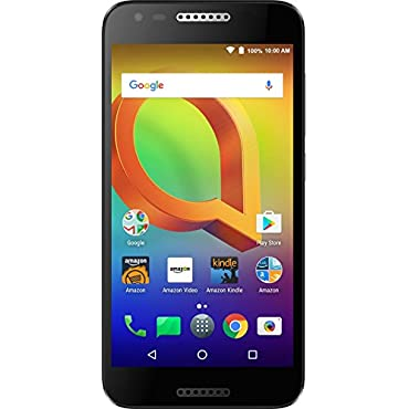 Alcatel A30 GSM (AT&T/T-Mobile) 16 GB Unlocked Prime Exclusive with Lockscreen Offers & Ads (Black)