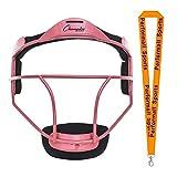 Champion Sports Softball Fielder's Face Mask Adult Size Pink Bundle