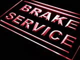 ADVPRO Brake Service Car Repair Shop LED Neon Sign Red 24'' x 16'' st4s64-j274-r