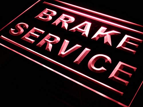 ADVPRO Brake Service Car Repair Shop LED Neon Sign Red 24'' x 16'' st4s64-j274-r by ADVPRO