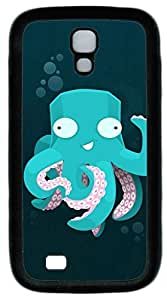 samsung galaxy s4 case,custom samsung galaxy s4 i9500 case,PC Material,Drop Protection,Shock Absorbent,Customize your own cell phone case pattern,black case,Cartoon octopus