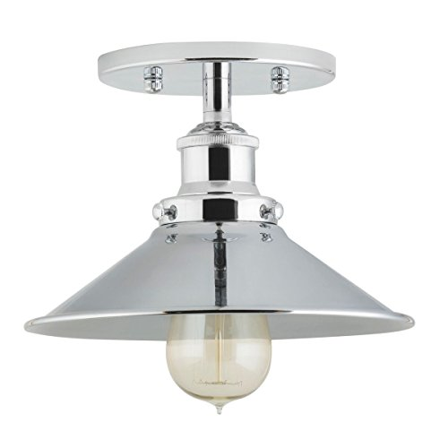 Andante Industrial Ceiling Light Fixture - Chrome - Linea di Liara LL-C407-PC (Chrome Ceiling Fixture)