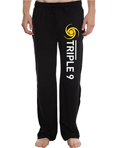 RBST Men's Triple Nine Society Running Workout Sweatpants Pants M Black