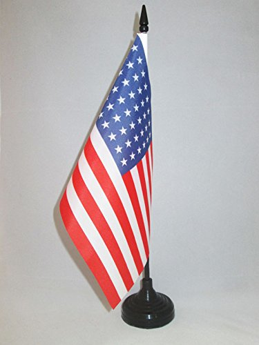 BANDIERA DA TAVOLO STATI UNITI 48 STELLE 21x14cm - PICCOLA BANDIERINA ANTICA AMERICANA – USA 14 x 21 cm - AZ FLAG