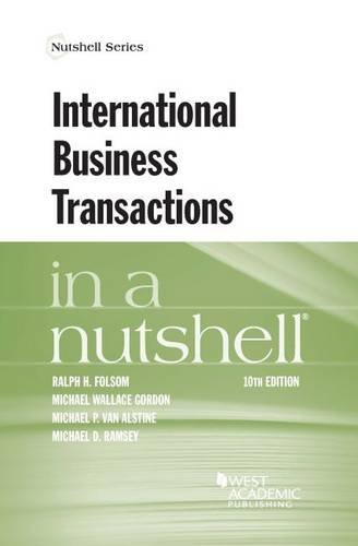 International Business Transactions in a Nutshell (Nutshells)