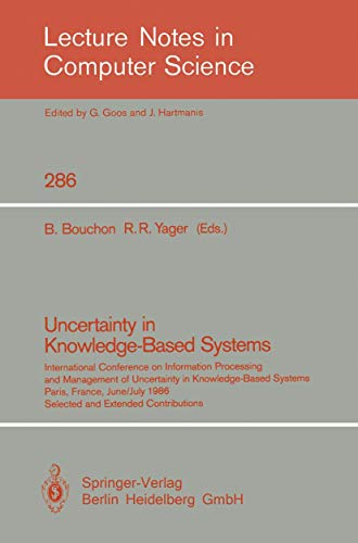 Uncertainty in Knowledge-Based Systems