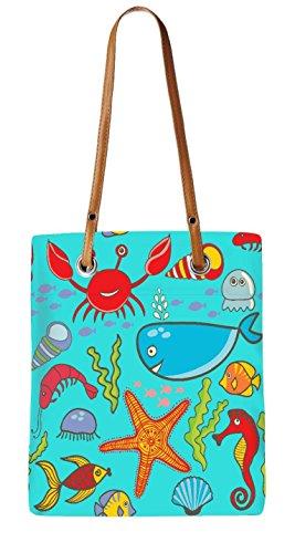 Snoogg Sac de plage, Multicolore (multicolore) - LTR-BRO-10043-ToteBag