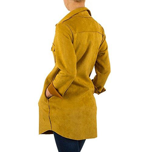 iTaL-dESiGn - Chaqueta - universidad - para mujer amarillo