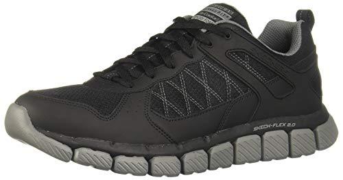 Skechers Mens Skech-Flex 2.0 - High Knoll Black/Charcoal 11 D - Medium