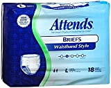 Attends Briefs Waistband Style L - 2pks of 18, Pack of 3