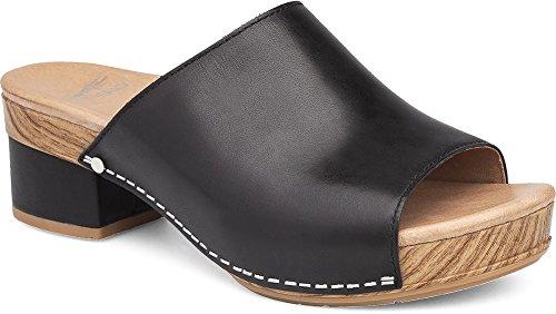 Dansko Women's Maci Sandal Black Full Grain Size 38 EU (7.5-8 M US Women)
