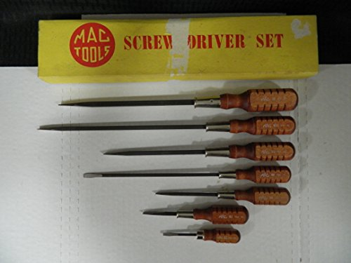 Mac Tools 7 Piece Vintage/Rare Wooden Flat Head Screwdriver Set, Made in USA in the 80's, Part #N10 by Mac Tools (Image #3)