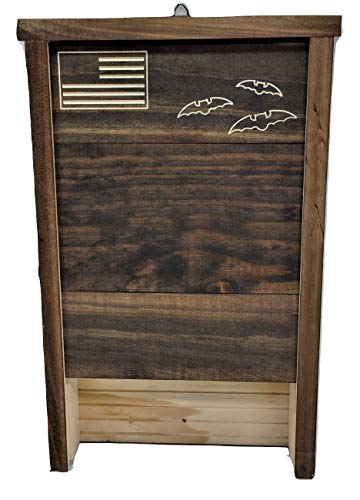 Premium 2-Chamber Bat House   Made in USA   Pre-finished Select Pine   Ready to install   Ideal Bat Shelter for most U.S. climates   Environmentally Responsible Mosquito Control   DblPine
