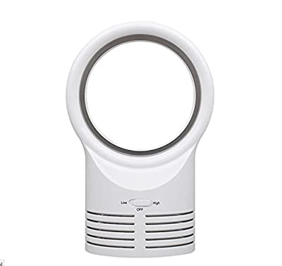 Geelyda Environmental protection Mute Safe Lightweight Bladeless Fan 10 Inches, White