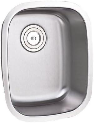 15 Inch Stainless Steel Undermount Single Bowl Kitchen Bar Prep Sink – 16 Gauge
