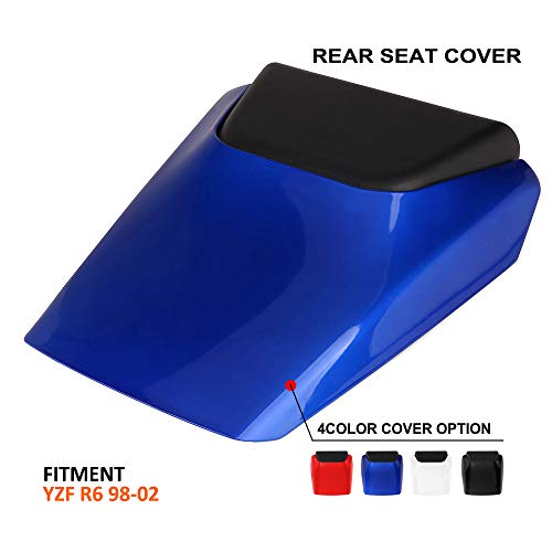 AnXin Motorcycle Blue Rear Seat Cowl Passenger Pillion Fairing Tail Cover For Yamaha TYZF R6 1998-2002 Blue Rear Seat Cowl