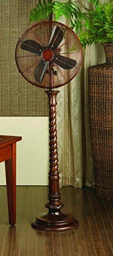 DecoBREEZE Pedestal Fan Adjustable Height 3-Speed Oscillating Fan, 16-Inch, Raleigh