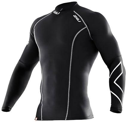 wholesale dealer 1c504 dddf2 2XU Men s Thermal Compression Long Sleeve Top (Black Black, Small)