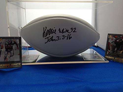 Reggie White Authentic Autographed Signed Wilson Football Memorabilia - JSA Authentic