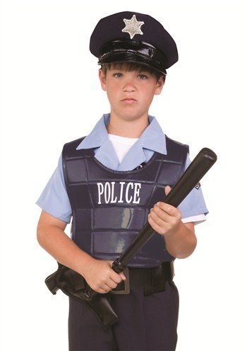RG Costumes Child Police Dress-Up Vest & Hat Accessory Kit (Childrens Police Dress Up)