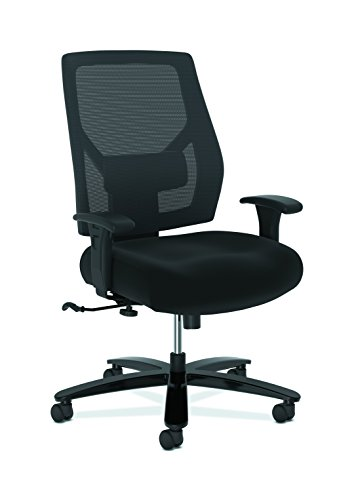 The HON Company BSXVL585ES10T HON Crio High Big and Tall Fabric Mesh Back Computer Chair for Office Desk, Black (HVL581), Swivel/Tilt