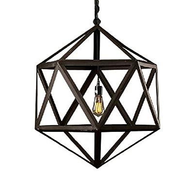 WinSoon Industrial Vintage Ironwork Edison Ceiling Lamp Pendant RH Loft Metal Cage Light 1-Pendant