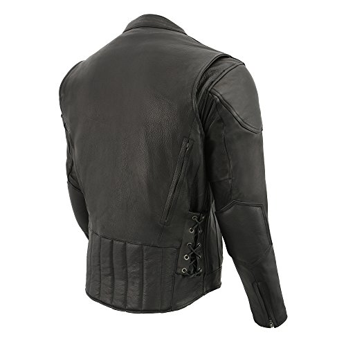 Buy mens motorcycle leather jacket xl