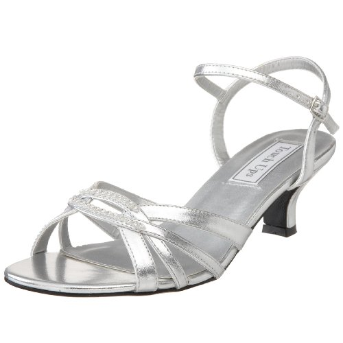 Touch Ups Women's Dakota Sandal,Silver,6 W US