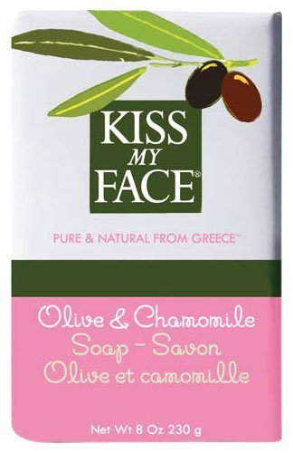 Kiss My Face Moisturizing Bar Soap for All Skin Types - Olive & Chamomile - 8 oz