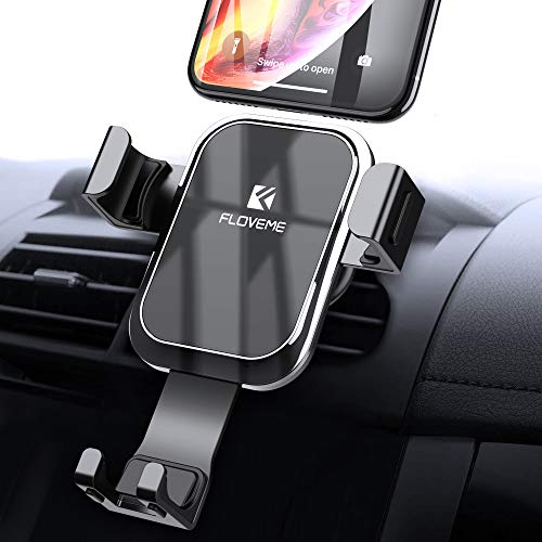 Gravity Car Phone Mount FLOVEME Cell Phone Holder for Car Hands Free Auto Lock Air Vent Car Phone Holder Not Wireless Charger Compatible iPhone Xs MAX X XR 8 7 6 Plus Samsung S9 S8 S7 S6 Note 8 9