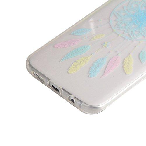 PowerQ Modelo colorido Serie Pintura Impresión Suave Silicona Gel TPU Carcasa Cover Caso Case < Blue Lotus Flower | para IPhone 6 6S IPhone6S IPhone6 >                                  Dibujo Cubrir caja del teléfono móvil Proteger P Blue Campanula