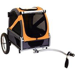 DoggyRide Bike Trailer for Dogs, Mini, Dutch Orange/Grey