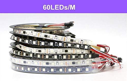 ZHANGHA 0.5-5M 30/60 LED/M 2811ピクセルプログラマブル個別アドレス指定可能LEDストリップライトWS2811 5050 RGB 12VブラックLEDテープランプ ZHANGHA (Color : White PCB IP30, Emitting Color : 60LEDs 1M)