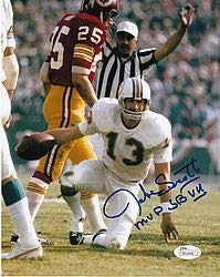 - Jake Scott Miami Dolphins Mvp Sb Vii JSA Certifiedated Action Signed Autographed 8x10