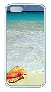 Sea Shell by the Sea Shore TPU Silicone Case Cover for iPhone 5/5S White