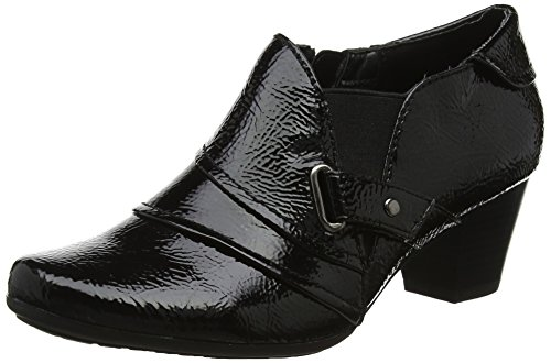Lotus Damen Aldane Plateau Black (Black Crinkle)