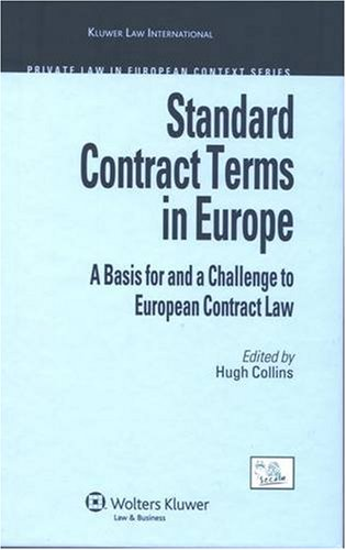 Standard Contract Terms in Europe: A Basis for and a Challenge to European Contract Law (Private Law in European Context) PDF Text fb2 book