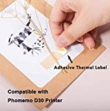 Phomemo D30 Label Maker-with 3 Roll Adhesive Label