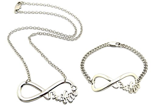 Crescendo SJ INC New Celebrity Fans 'Swiftie' Pendant Fashion Necklace & Bracelet Set -R