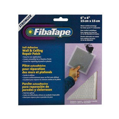 - FibaTape 6 inch x 6 inch Self Adhesive Perforated Aluminum Wall and Ceiling Repair Patch