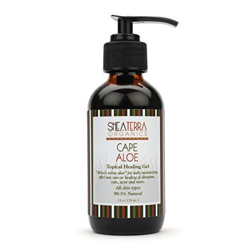Shea Terra Organics African Aloe Topical Gel | Anti-Acne, Burns, Bites & Rashes Body Treatment - 4 oz (Best Acne Products In South Africa)