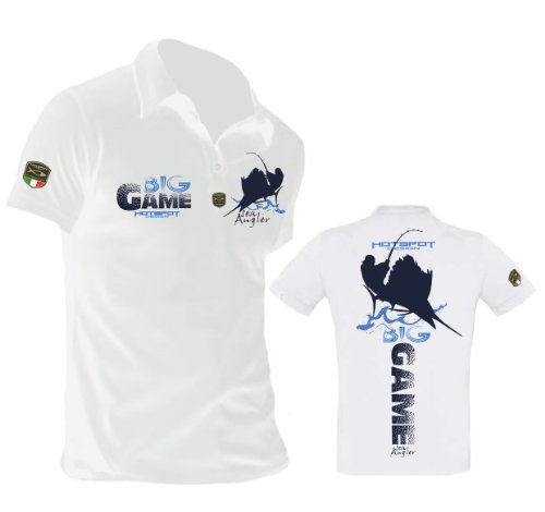 "Hotspot Design Angler Polo Shirt ""Big Game"" - Polo Shirt für Angler"