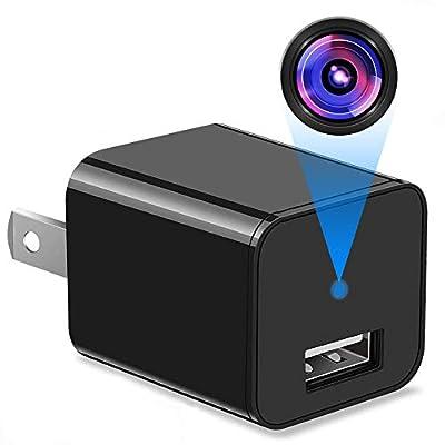 Spy Camera - Hidden Camera -Full HD 1080P USB Hidden Camera - Surveillance Camera - Mini spy Camera - Nanny Camera -Motion Detection - Hidden Camera Charger Adapter -Nanny cam for Home Office