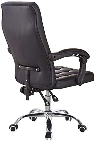 JJHOME-Chaises Similicuir Ordinateur Chaise de Bureau Tabouret d'ascenseur réglable Chaise de Bureau à Domicile Chaise à roulettes pivotantes à 360 °