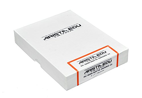 Arista EDU Ultra RC Black & White Photographic Paper, Semi-Matte #2, 5x7, 100 (Gloss 100 Sheet Photographic Papers)