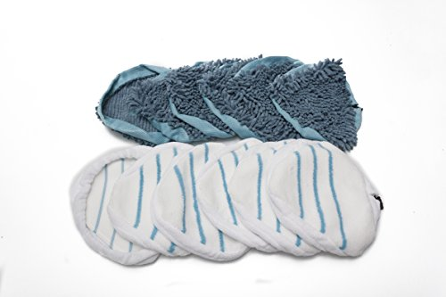 LTWHOME Coral and Microfibre Replacement Cleaning PadsSet Fit for Vax S2 Series H2O Steam Cleaner Mop (Pack of 12) by LTWHOME