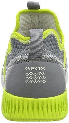 Geox Sveth a, Zapatillas Para Niños Gris (Grey/lime)