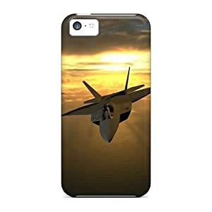 LJF phone case Tpu Case Cover For Iphone 5c Strong Protect Case - In The Sky Design