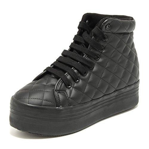 Sneaker Scarpa Nera HOMG Campbell Women Shoes Jeffrey 7656G Nero Zeppa Donna xqPAn7w