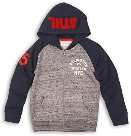 Minoti Boys Navy Grey Zip Hoodie 3-6 Years